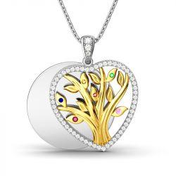 Circle Of Life Layering Heart-Shaped Pendant