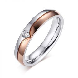 Chic Titanium Steel Couple Rings