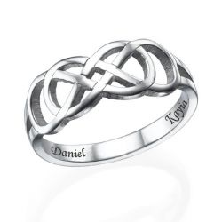 Infinity Ring With Inner Engraving Sterling Silver