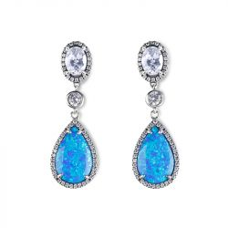 Dreamlike Blue Opal Earrings