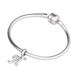 Letter H Dangling Charm Sterling Silver