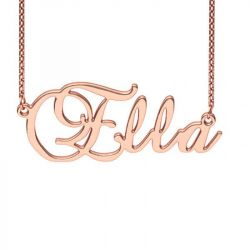 Rose Gold Tone  Brockscript  Style Name Necklace