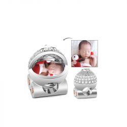 Baby's Pram Photo Charm Sterling Silver