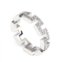 The Great Wall Design Sterling Silver Band