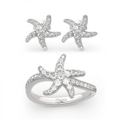 Starfish Sterling Silver Jewelry Set