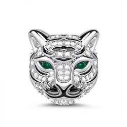 Royal Tiger Sterling Silver Charm