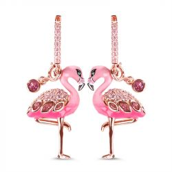 Flamingo Sterling Silver Earrings