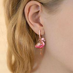 Flamingo Sterling Silver Earrings