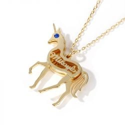 Jeulia Unicorn Personalized Sterling Silver Necklace
