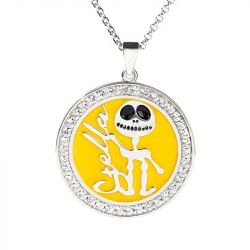 Jack Skull Personalized Sterling Silver Necklace