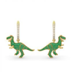 Prehistoric Glamour Dinosaur Sterling Silver Earrings
