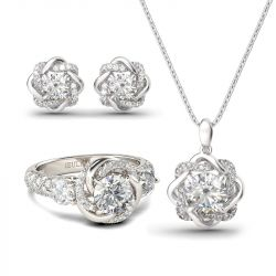 Knot of Love Sterling Silver Jewelry Set