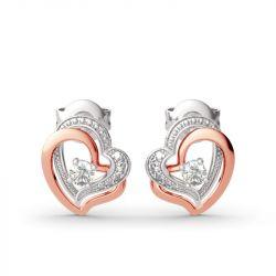 Jeulia Double Heart Sterling Silver Jewelry Set