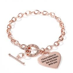 Heart Personalized Sterling Silver Bracelet