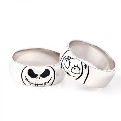 Cute Jack Skellington Sterling Silver Band
