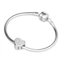 Heart Forever Friend Charm Sterling Silver