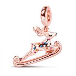 """""""Christmas Reindeer"""" 925 Sterling Silver Pendant"""
