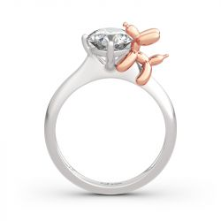"""Jeulia """"Balloon Dog"""" Round Cut Sterling Silver Ring"""