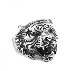 Jeulia Vintage Tiger Head Titanium Steel Men's Ring