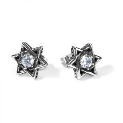 Jeulia Hexagram Stainless Steel Men's Earrings