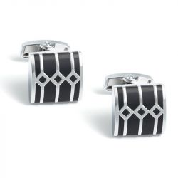Jeulia Geometric Shape Copper Men's Cufflinks