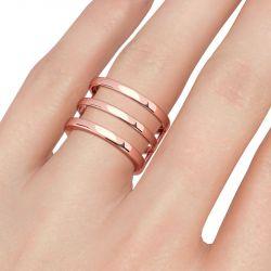 Jeulia Unique Design Sterling Silver Cocktail Ring