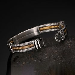 Jeulia Cross Stainless Steel Men's Bracelet