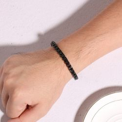 Jeulia Domineering Stainless Steel Men's Bracelet