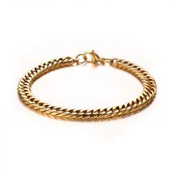 Jeulia Twist Men's Titanium Steel Bracelet