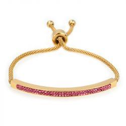 Gold Tone Bolo Bracelet