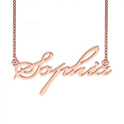 Rose Gold Tone Beautiful-ES Style Name Necklace