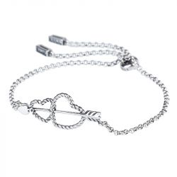 Arrow and Heart Bolo Bracelet