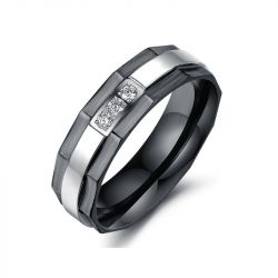 Black Plating Titanium Steel Ring
