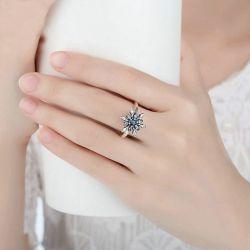 Floral Design Sterling Silver Ring