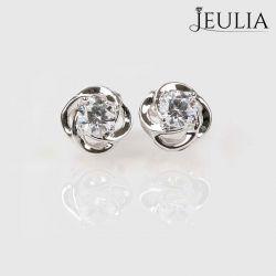 Classic Flower Sterling Silver Stud Earrings