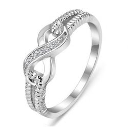 Split Shank Infinity Sterling Silver Ring