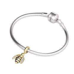 Golden Bee Charm Sterling Silver