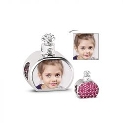 Perfume Bottle Photo Charm Sterling Silver