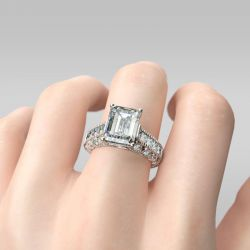 Vintage Emerald Cut Sterling Silver Ring