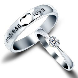 Couple Sterling Silver Band Set