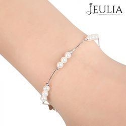 Elegant Cultured Pearl Sterling Silver Bracelet