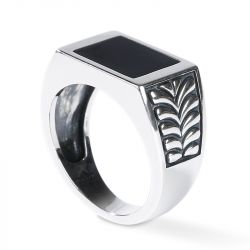 Classic Sterling Silver Signet Ring