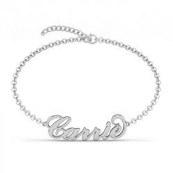 3D Name Bracelet Sterling Silver
