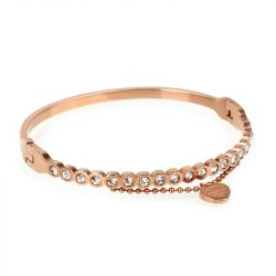 Rose Gold Tone Chain Design Bangle
