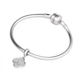 Number Four Charm Sterling Silver