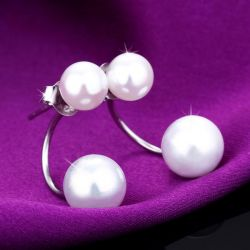 Simple Created Pearl Ear Jackets