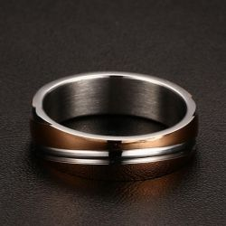 Rose Gold Tone Titanium Steel Men's Band