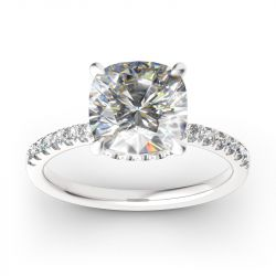 Classic Cushion Cut Sterling Silver Ring