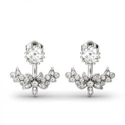 Jeulia Vintage Flower Sterling Silver Ear Jackets