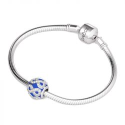 Infinity Blue Charm Sterling Silver